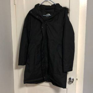 Womens black parka